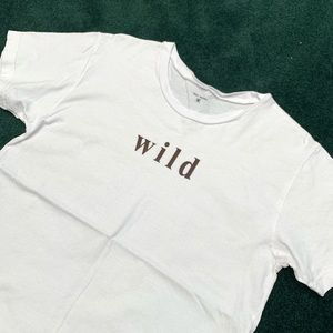 Indy Brand Wild White Tee T-Shirt Cute Workout
